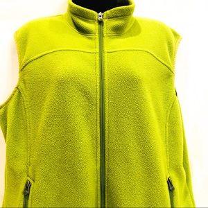 REI  XL Line Green Polartec Fleece Vest Full Zip